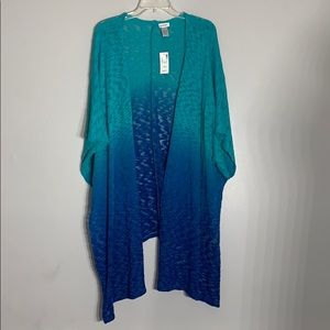 NWT Loose knit Burn Out ombré open cardigan
